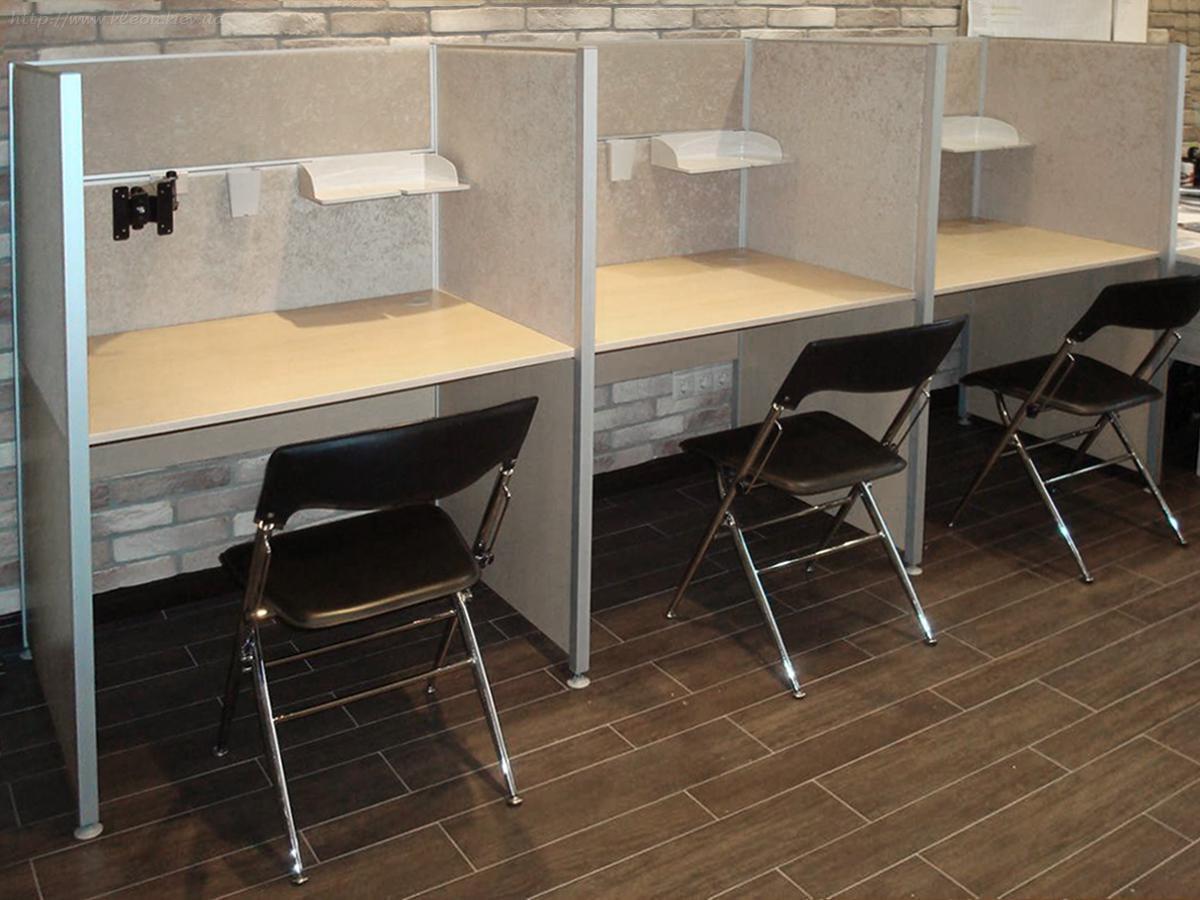 180. столы с перегородками для колл-центра + органайзер - оф.